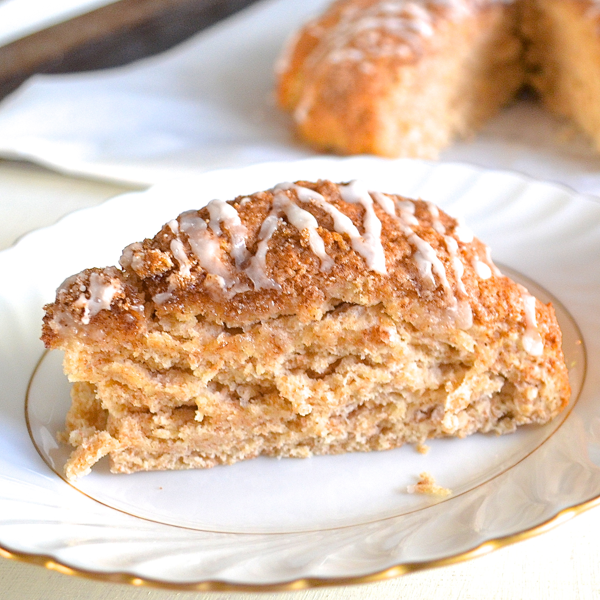 Healthy Cinnamon Roll Scones