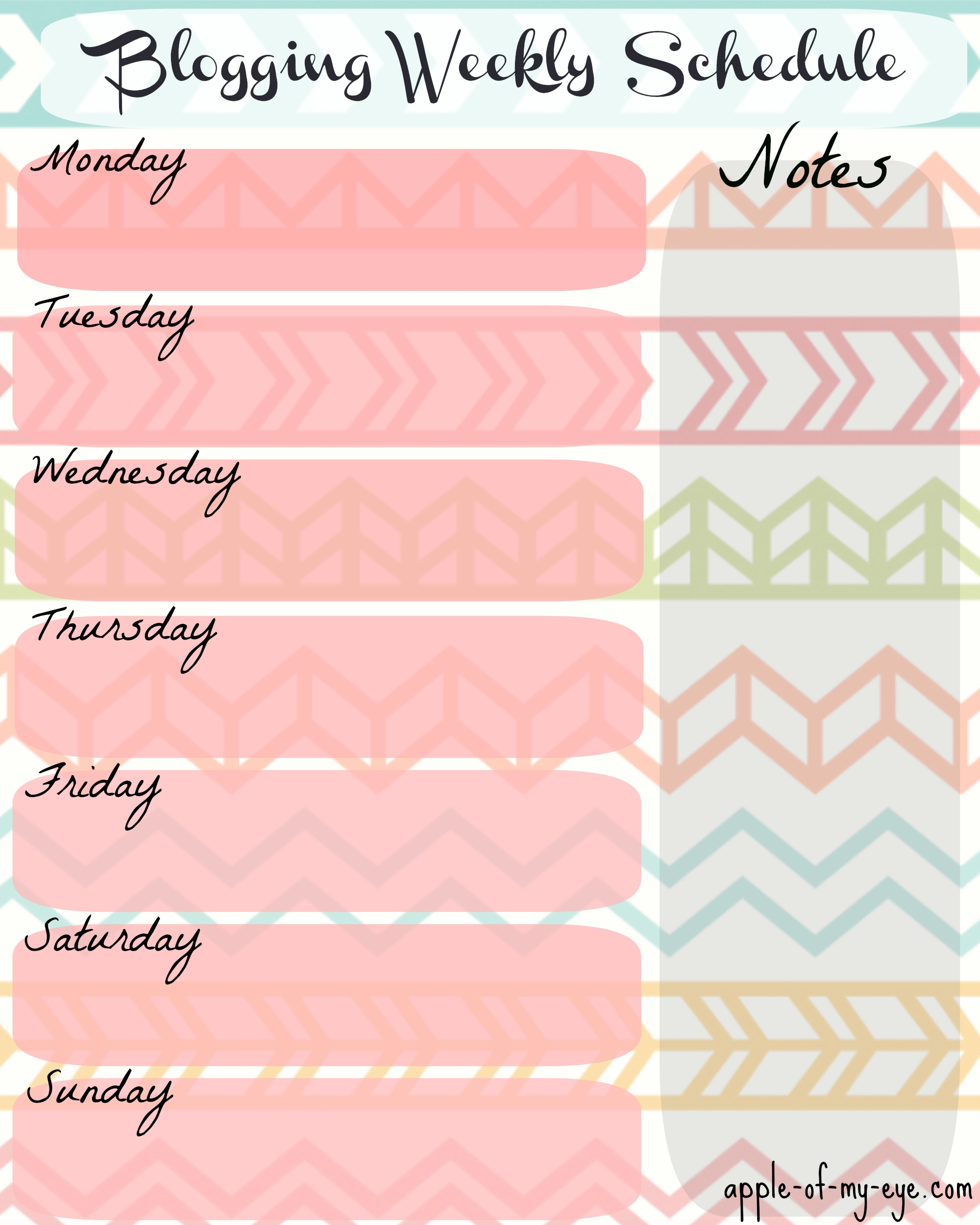 Cute Weekly Calendar Template Printable Cute Printable Weekly