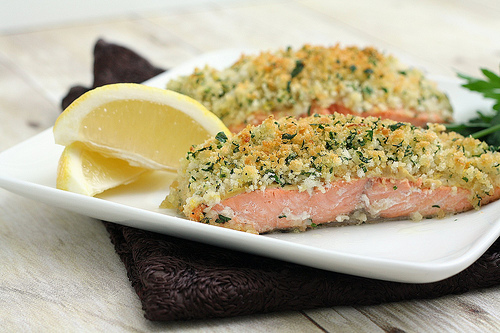 edamame mash quick and easy pecan crusted dijon salmon almond crusted ...