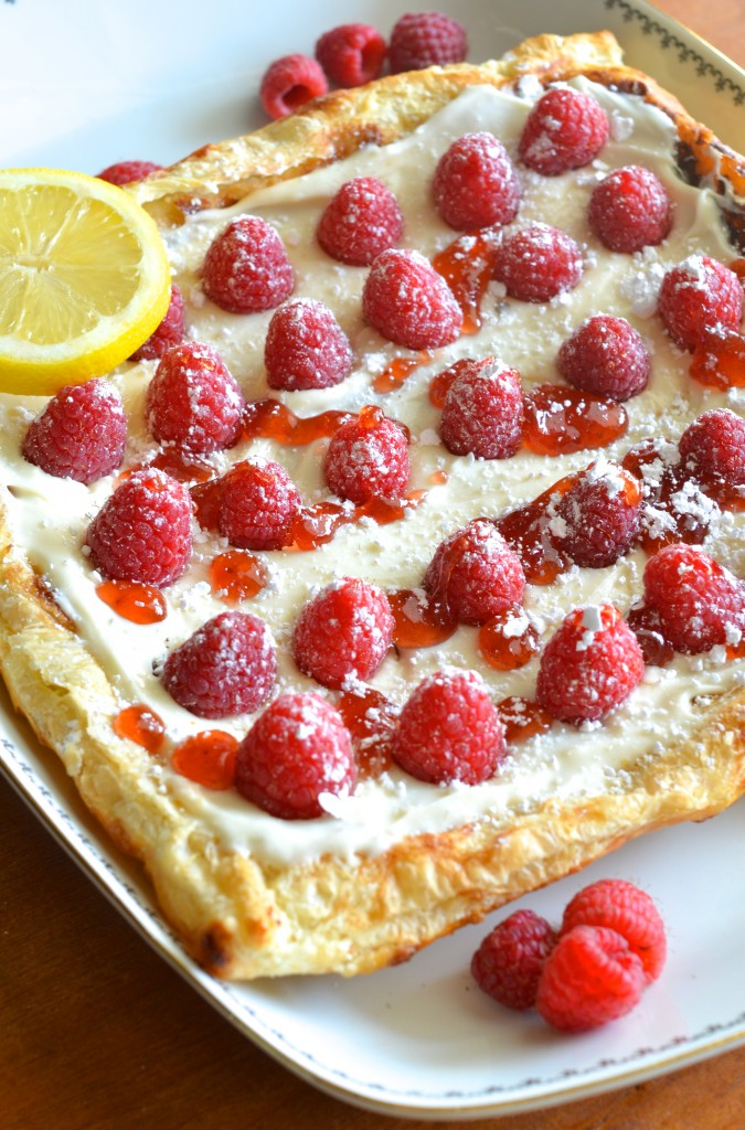 Fresh, fast, and SO easy! Raspberry Lemon Cheesecake Pastry