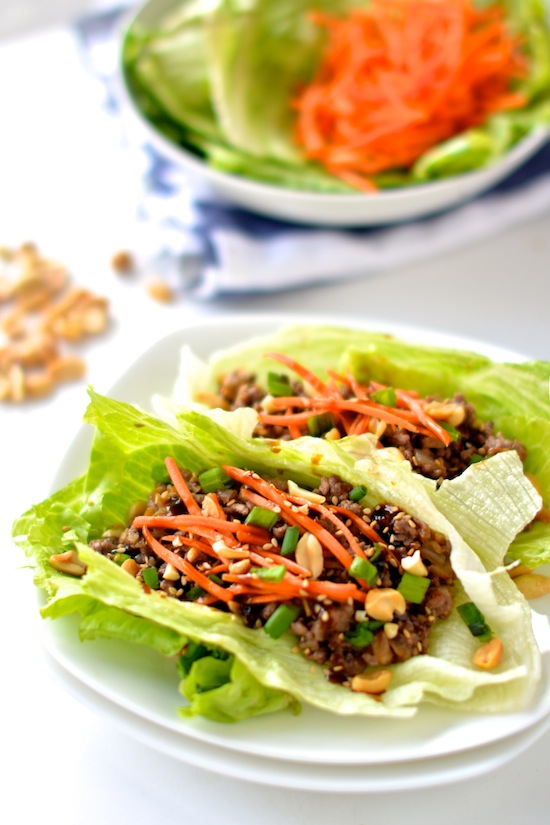 Healthy Asian Lettuce Wraps