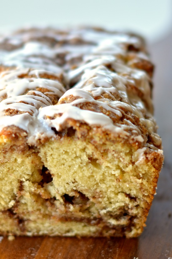 Cinnamon Swirl Bread with Vanilla Glaze - Apple of My Eye