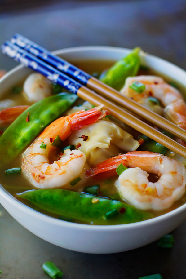 Shrimp Wonton Soup - Apple of My Eye
